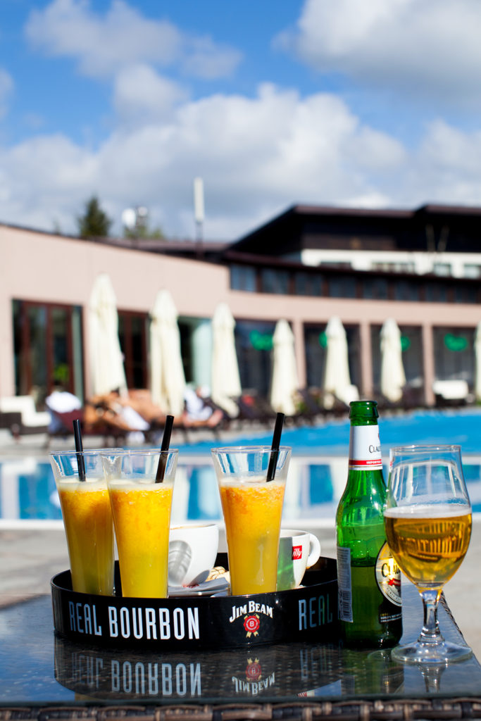 Drinks at Belchin Garden Spa Hotel