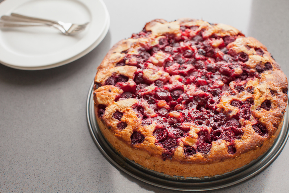 Fresh Raspberry Cake Recipe featured by top US food blog, Tea Cups & Tulips