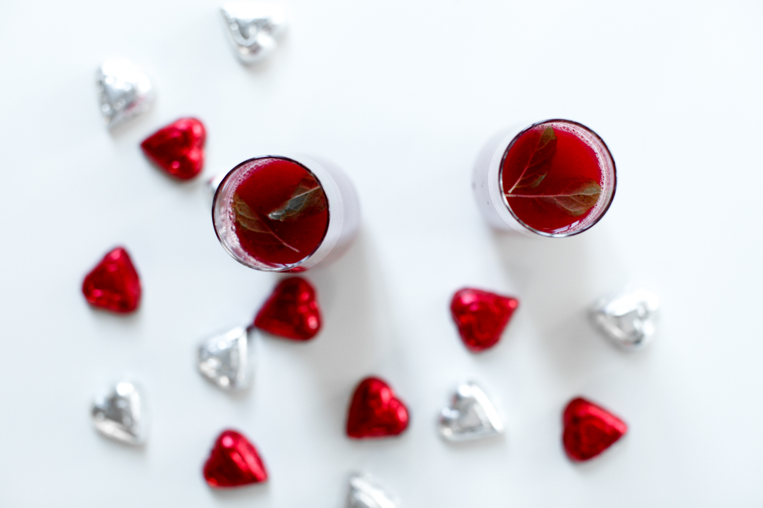Triple Berry Mimosa Recipe, featured by top US food blog, Tea Cups & Tulips: image of Triple berry mimosa recipe for Valentine's day