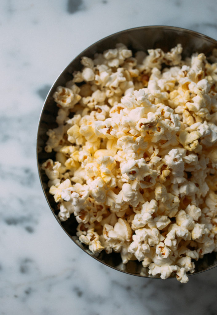 Healthy Snacks to Buy on Amazon | Best Healthy Snacks on Amazon by popular California life and style blog, Tea Cups and Tulips: image of a bowl of popcorn.