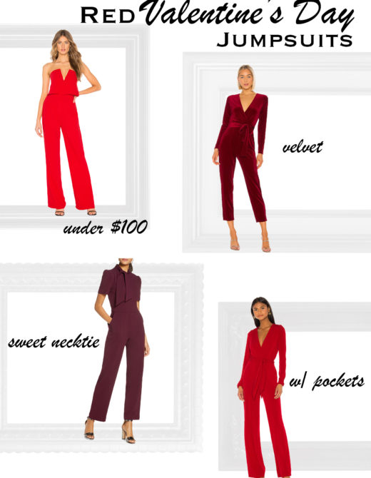 Red Jumpsuits for Valentine's Day