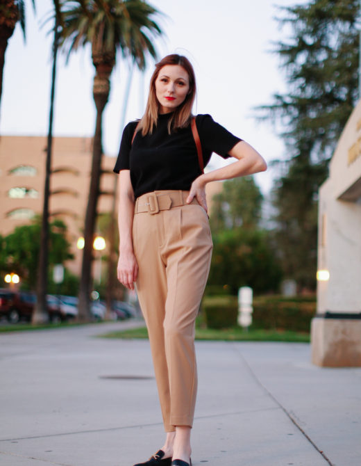 How to wear paperbag pants for work