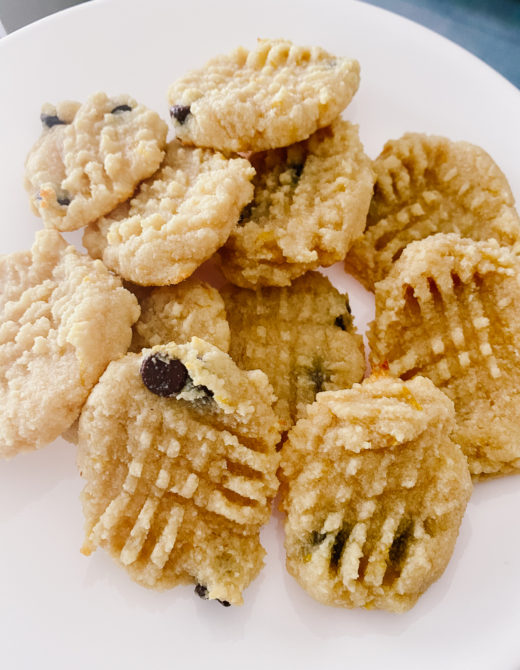 lemon chocolate chip cookies