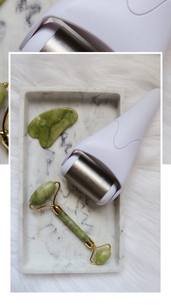 how to clean your ice roller   Ice Roller by popular LA beauty blog, Tea Cups and Tulips: image of a jade face roller next to a ice roller.